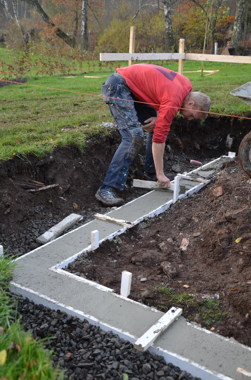 gjuta betongmur själv