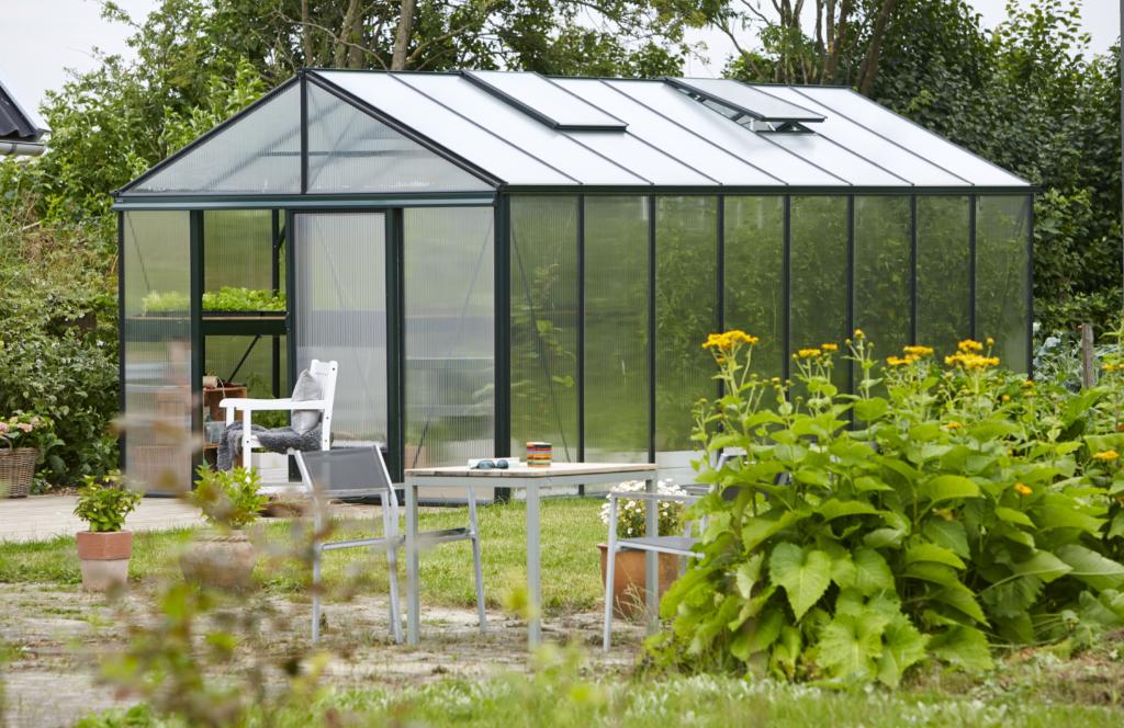 Glas växthus