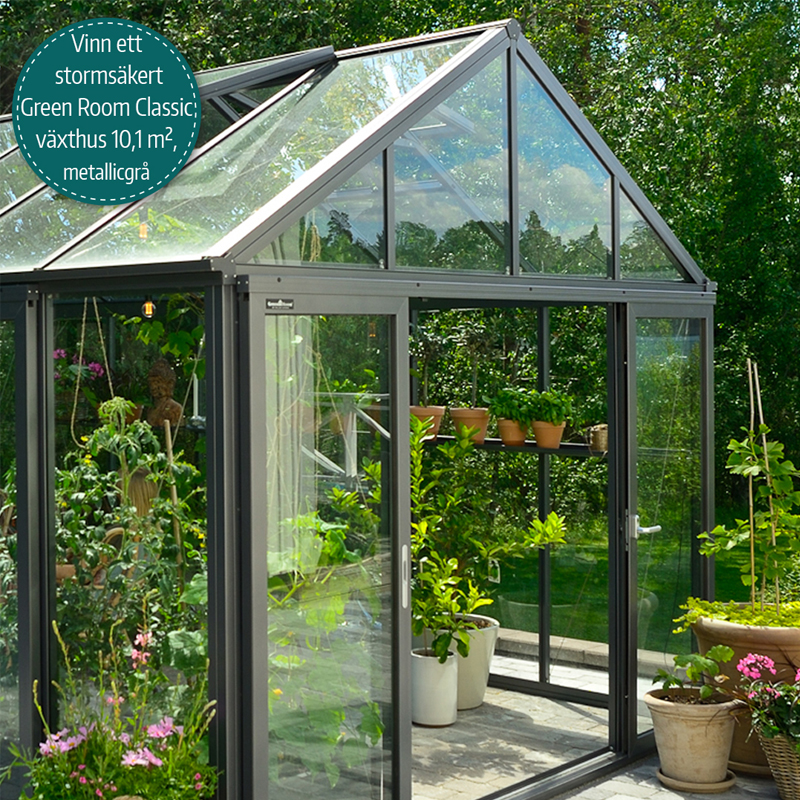 Green Room Classic växthus från Willab Garden