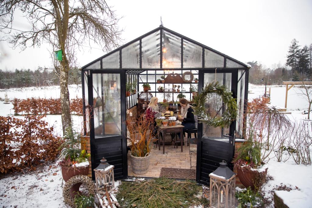 växthus i vinter