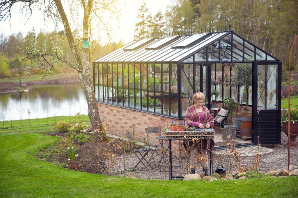 växthus på mur, engelsk stil