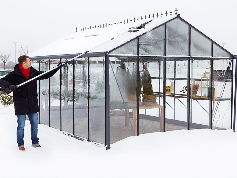 Klarar växthuset tyngden från snön?