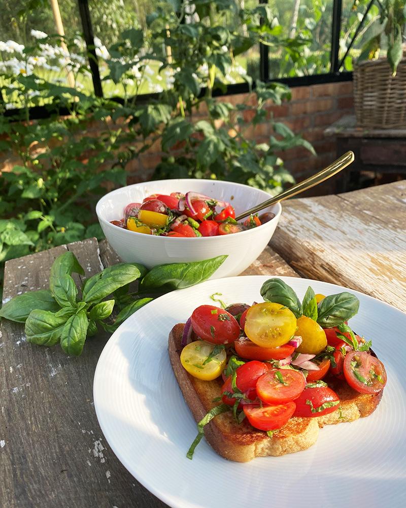 De första tomaterna